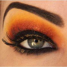 Girl You Got Hawkeyes Avenger Characters Eye Makeup Geekologie ❤ liked on Polyvore
