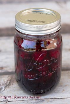Homemade Bourbon Blackberries