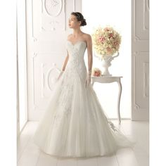 Elegant a-line With Sweetheart Neckline Lace Skirt Style - Star Bridal Apparel, #a-line, #Sweetheart, #Neckline, #lace, #wedding, #dress, #bridals