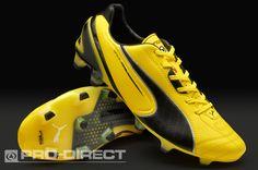 Puma Football Boots - Puma King SL FG - Firm Ground - Soccer Cleats - Blazing Yellow-Black-White