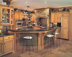 Custom Glazed Kitchen Cabinets Hickory Cabinets Kitchen Photos  How To Organize Custom Kitchen