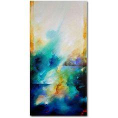 Trademark Fine Art Aqua Breeze Canvas Art by CH Studios, Size: 24 x 47, Multicolor