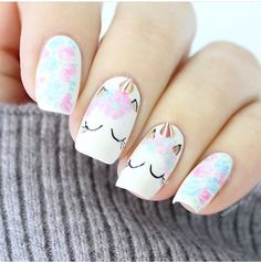 Unicorn nails  ♡ ♡Pinterest: @EnchantedInPink♡ ♡