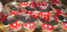 Galletas Mickey Mouse botones blancos