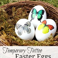 Less mess, more fun when you decorate Easter eggs with temporary tattoos.