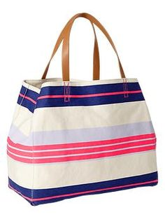 Printed canvas tote | Gap