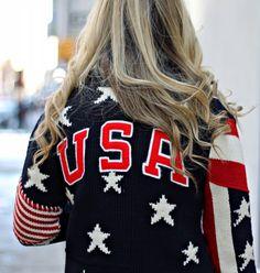 Ralph Lauren USA Cardigan 2014 Olympics Opening Ceremony