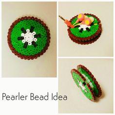 Pearler Bead Idea. a Kiwi earbud holder made of pearler beads