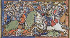 Bild: Folio 41 recto Sammlung: Die Miniaturen der Maciejowski-Bibel Axt