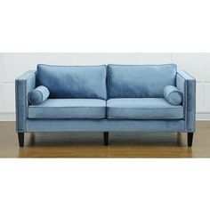 Angelo home laura parisian blue evening velvet sofa shopping great deals on Modern sofas to go with any type of decor