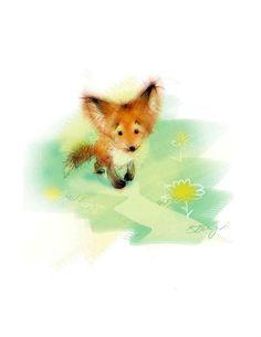 Shy little fox Fox Spirit, Spirit Animal, Fox Illustration, Illustrations, Fox Drawing, Foxes Photography, Fox Tattoo, Pet Fox, Fox Art