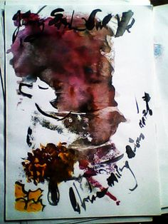 "My Abstract Paintings In Watercolor Saatchi Online Artist Boi K' Boi; Painting, ""My Abstract Paintings In Watercolor"" #art"