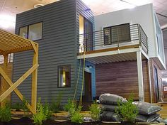 In reality - I would love a recycled, self sustainable house on a bunch of land! SG Blocks Container House designed by the Lawrence Group was built up using five recycled shipping containers, uses solar power and can recycle rainwater.  Repinned by www.sosavi.co.uk
