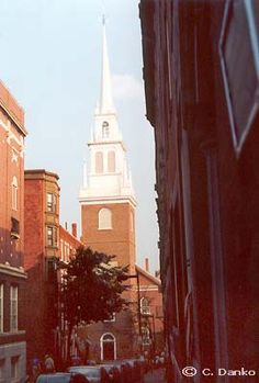 """Boston's Historic Old North Church.   Home to """"one if by land, two if by sea!"""" ( I really want to go there someday)"""