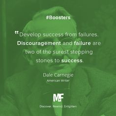 """Develop success from failures. Discouragement and failure are two of the surest stepping stones to success"" - Dale Carnegie.  #Inspiration #Motivation #Quotes #Leadership #Entrepreneurship Download MunchFacts for #android - http://munchfacts.com/app"