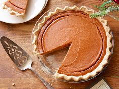 From-Scratch Pumpkin Pie : Nancy doesn't cut any corners in making her richly decadent holiday pie, featuring a classic buttery crust and a smooth, creamy filling made from roasted fresh pumpkin.