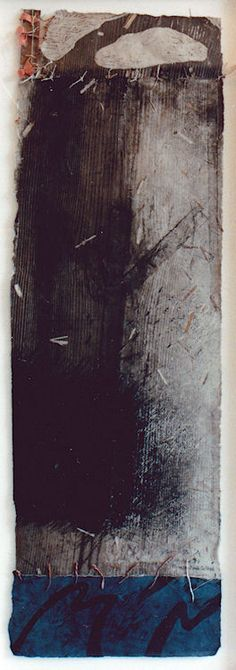 D-27.Aug.1987 wood cut/ mono-type print, collage 林孝彦 HAYASHI Takahiko 1987