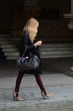 Chiara Ferragni wearing Valentino Rockstud Bag