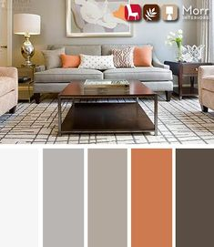 28 Creative Living Room Color Schemes [Paint Colors and Color Combination] Living Room Orange, Living Room Grey, Interior Design Living Room, Living Room Designs, Design Bedroom, Room Paint Colors, Paint Colors For Living Room, Bedroom Colors, Bedroom Ideas