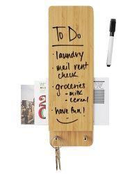 Bamboo Entry Butler Dry Erase Board