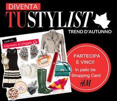 Concorso a premi Tu Style: prova a vincere shopping card H&M Componi il tuo outfit e prova a vincere una shopping card H&M! http://tuttoconunclic.altervista.org/blog/concorso-premi-tu-style-prova-vincere-shopping-card-hm/