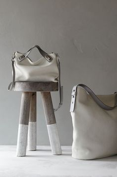 Mikkeline Perforated Leather Satchel + Karyn Perforated Leather Bucket Bag