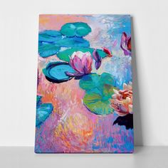 Canvas print WATER LILIES by Sticky!!!