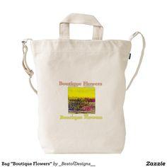 """Bag """"Boutique Flowers"""" Duck Canvas Bag"""