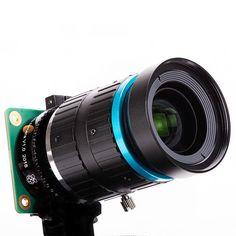 Raspberry Pi High Quality Camera Lens– The Pi Hut Raspberry Pi Computer, Raspberry Pi Camera, Projetos Raspberry Pi, Raspberry Pi Foundation, Robotic Automation, Latest Camera, Wide Angle Lens, Focal Length, Aperture