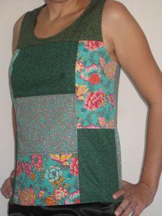Blusa Absinto- patchwork