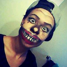 Fun Halloween, scary face makeup Halloween Stuff, Halloween Face Makeup, Scary Faces, Costumes, Painting, Dress Up Clothes, Fancy Dress, Painting Art, Paintings