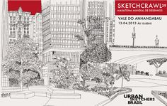 Urban sketchers show the world, one drawing at a time. Urban Sketchers, Vale Do Anhangabaú, Sketches, World, Drawings, Brazil, Drawing, Portrait, Sketching