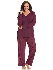 Foil dot PJ set - doesn't have to be this design but something like this style/fit