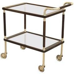 Tea Cart or Bar  | From a unique collection of antique and modern card tables and tea tables at https://www.1stdibs.com/furniture/tables/card-tables-tea-tables/