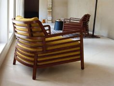 Sessel aus Holz mit Armlehnen FLAX by ROSET ITALIA | Design Philippe Nigro