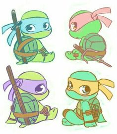 draw so cute ninja baby - Bing images Teenage Mutant Ninja Turtles, Baby Ninja Turtle, Ninja Turtles Art, Baby Turtles, Teenage Turtles, Sea Turtles, Ninja Turtle Drawing, Ninja Turtle Tattoos, Ninja Turtle Zeichnung