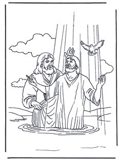 jesus is baptised beautiful coloring page of jesus baptism for kids