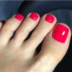 Pink Toe Nails, Painted Toe Nails, Red Toenails, Pretty Toe Nails, Toe Nail Color, Summer Toe Nails, Cute Toe Nails, Feet Nails, Toe Nail Art