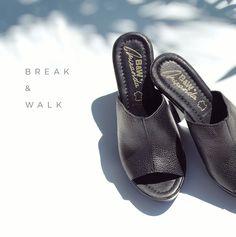 Zuecos Cuero Negro para Mujer. Todas las tendencias en calzado y moda para mujer en la Tienda Online de Break&Walk.