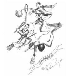 Quidditch, dessin de J.K. Rowling