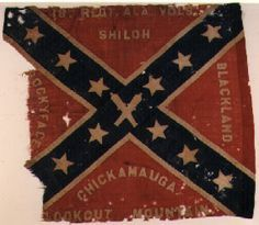 18th Alabama Infantry. Flags of this pattern were manufactured in Mobile, Alabama, and issued within the Department of Alabama, Mississippi and East Louisiana1. The 18th Alabama Infantry lost its Hardee pattern flag at Missionary Ridge on November 25, 1863. This flag was issued to the regiment sometime after the Battle of Rocky Face Ridge, (February 25,1864) which is the last battle honor listed on the flag. This flag was captured at the Battle of Resaca, Georgia on May 25, 1864.