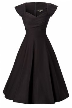 Stop Staring! - 50s Mad Men swing dress black