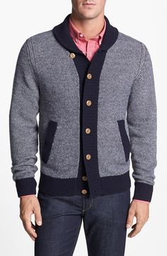 Façonnable Shawl Collar Cardigan available at #Nordstrom