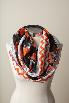 Cleveland Browns NFL Infinity Scarf. Fashionable way to sport your team! #browns #fashion #cleveplayhouse
