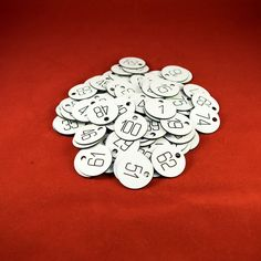 100x3cm White CNC Engraved Number Discs, Table, Tags, Locker, Pub, Restaurant…
