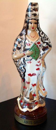 Bottle-Beautiful fan dancer-VintageJ.CID RAIMI - MASNOU BARCELONA Selling On Ebay, Snow Globes, Dancer, Barcelona, Plant, Beautiful, Christmas Ornaments, Vintage, Bottle