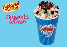 May Feature Twister is Fireworks (Pop Rocks) and Oreo! This Twister is full of flavour with the sneaky fun of pop rocks! Your taste buds will enjoy every bite. Pop Rocks, Taste Buds, Food Truck, Red Bull, Fireworks, Oreo, Sugar Free, Catering, Menu