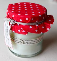 Gorgeous Soy scented inspirational word Jam Jar by SnowballLondon