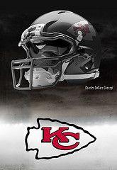 Kansas City Chiefs football helmets