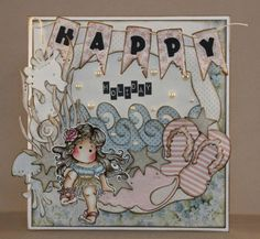 Happy Holiday, Magnolia, Doohickeys, flip flop, Tilda, summer, Distress ink,